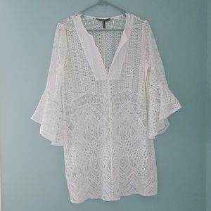BCBGMaxazria white bathing suit cover up.